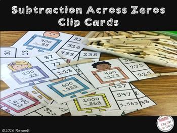 Subtraction Across Zero Clip Cards