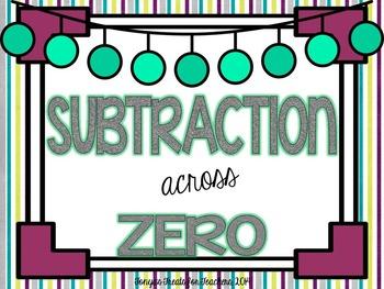 Subtraction Across Zero Word Problems