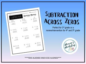 Subtraction Across Zeros