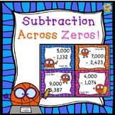 Subtraction Across Zeros Four-Digits!  Task cards to practice 3.NBT.A.2!