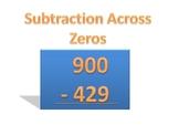 Subtraction Across Zeros PowerPoint