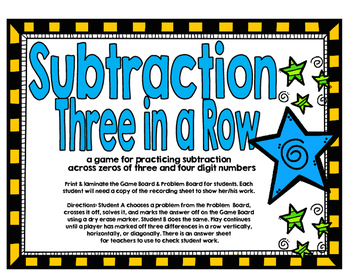 Subtraction Across Zeros Three in a Row