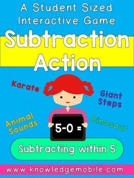 Subtraction Action - K.OA.A.5 - FREEBIE - Subtracting within 5