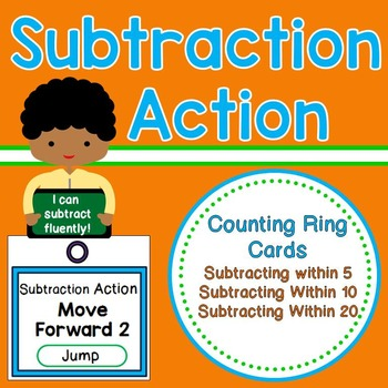 Subtraction Action - Subtracting Fluently within 5, 10, and 20