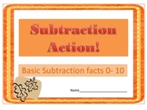 Subtraction Action - Subtraction Between 0 and 10