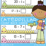 Subtraction Activity Cards - Caterpillar Count Back