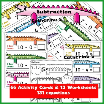 Subtraction Activity Cards and Worksheets