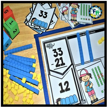 Subtraction Activity Center | Camping Trip