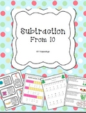 Subtraction Activity Pack - Subtraction from 10 - Common Core Aligned