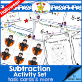 Subtraction Activity Set - Task Cards and more - Spooky Halloween