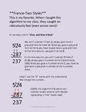 Subtraction Algorithms for all grades