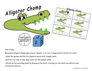 Subtraction Alligator Chomp Game