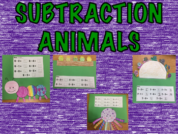 Subtraction Animals