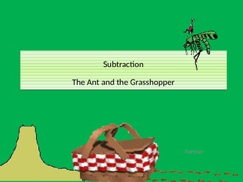 Subtraction Ant and Grasshopper with Student Worksheet