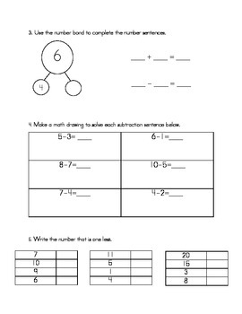 Subtraction Assessment