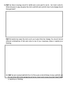 Subtraction Assessment- 3rd Grade
