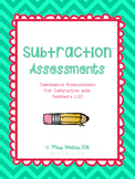 Subtraction Assessment PACKAGE