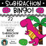 Subtraction BINGO! 32 different cards... with CUTE DINOSAURS!