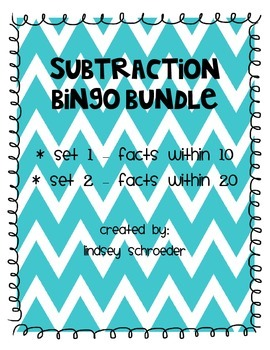 Subtraction BINGO Bundle