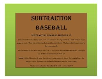 Subtraction Baseball