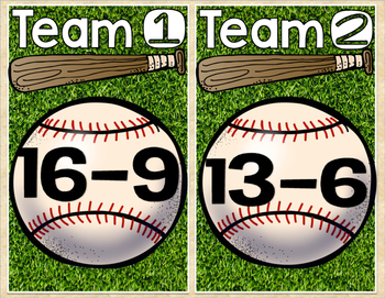 Subtraction Baseball (Facts to 20)