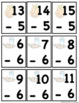 Subtraction Basic Facts Memory Game