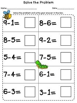 Subtraction: Basic Skills for 1st Grade