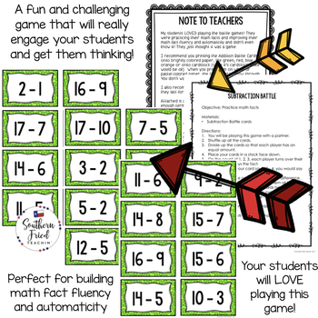 Subtraction Facts - Fun Game to Practice Math Facts