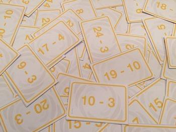 Subtraction Battle Card Game