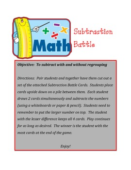 Subtraction Battle Game