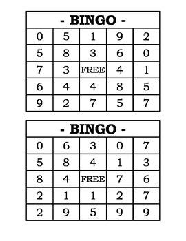 Subtraction Bingo