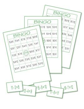 Subtraction Bingo 2