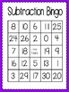 Subtraction Bingo (30 completely different cards & calling cards included!)