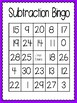 Subtraction Bingo (30 completely different cards & calling
