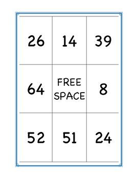 Two-Digit Subtraction Bingo