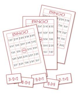 Subtraction Bingo 4