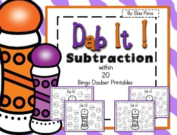 Subtraction Bingo Dauber Printables