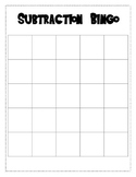 Subtraction Bingo - Double Digit Subtraction With Regrouping