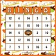 Subtraction Bingo- Thanksgiving Edition