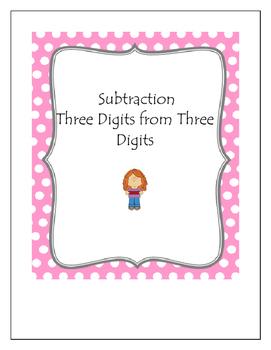 Subtraction Bingo Three Digits from Three Digits