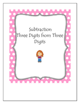 Subtraction Bingo Three Digits from Three Digits