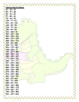 Subtraction Bingo Three and Two-Digit Numbers (30 pre-made cards!!!)