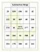 Subtraction Bingo Three and Two-Digit Numbers (30 pre-made