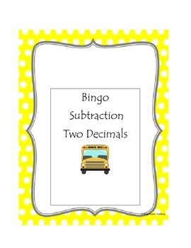Subtraction Bingo Two Decimals