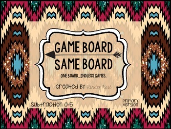 Subtraction Board Game 0-5