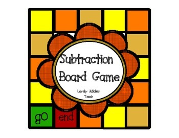 Subtraction Board Game Mental Math