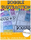 Subtraction Boggle with Number Sentences up to 4 digits