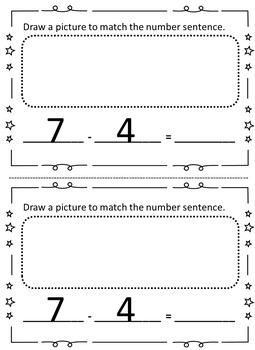 Subtraction Sentence Book