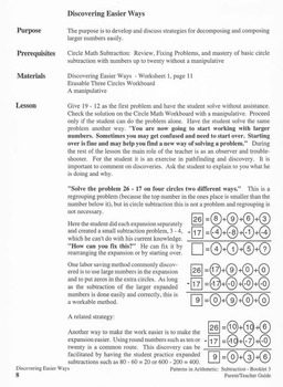 Subtraction -  Booklet 3 - General Principles of Regrouping - Teacher Guide