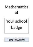Subtraction Booklet for Parents